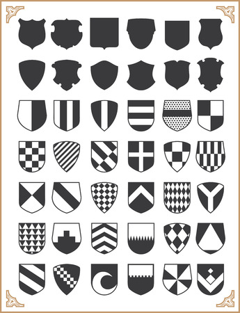 shield: Set of vector shields Illustration