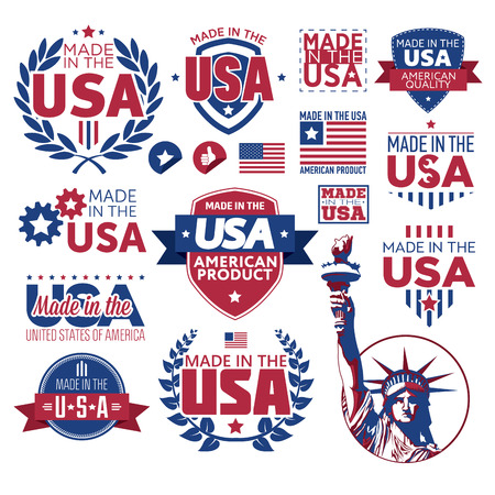 usa: Label Made in the USA Illustration