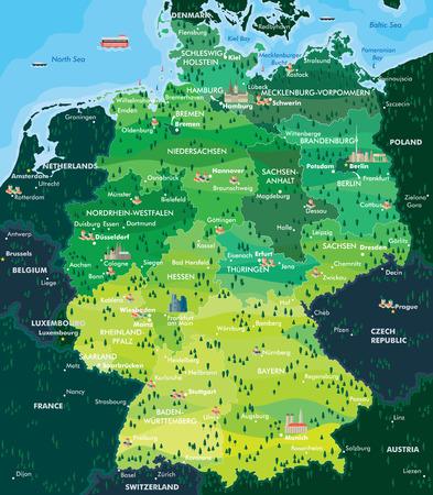 frankfurt germany: map germany