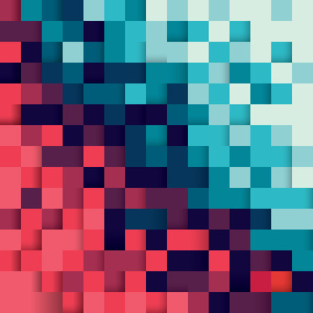 Pixel abstract background  イラスト・ベクター素材