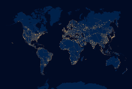 Abstract Night World Map Royalty Free Cliparts Vectors And Stock - Us night map