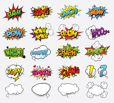 Comic sound effects Stock Illustratie