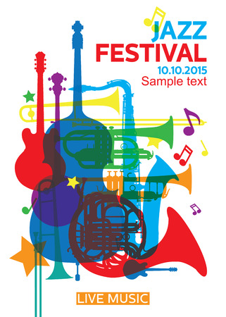 Jazz festival Poster2 Stock Illustratie