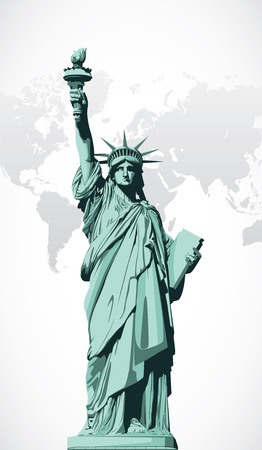 Vector statue of Liberty Vettoriali
