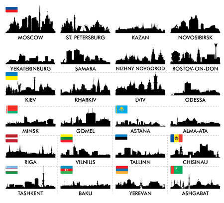moscow city: City skyline eastern and northern Europe and Central Asia