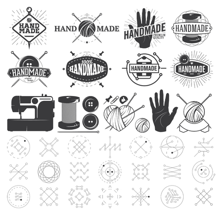 clew: Vintage Hand Made Labels, Badges and Design Elements