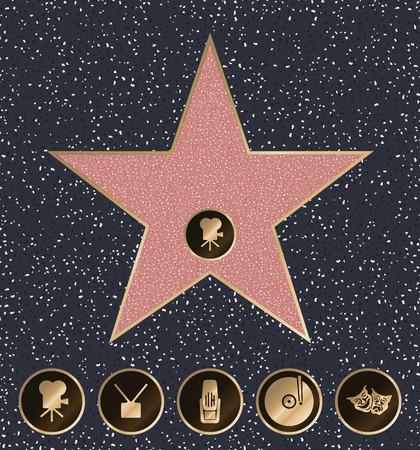 Walk of Fame vector illustration