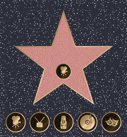 fame: Walk of Fame vector illustration