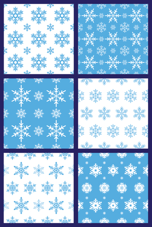 windstorm: Snowflakes seamless pattern vector Illustration