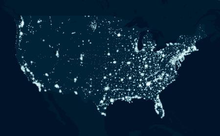 アメリカ合衆国のコミュニケーション マップ  イラスト・ベクター素材
