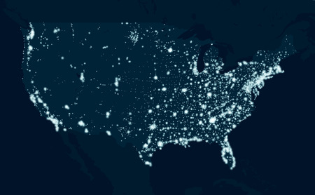 Communications map of the United States