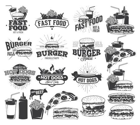 Fast Food Label en ontwerpelementen