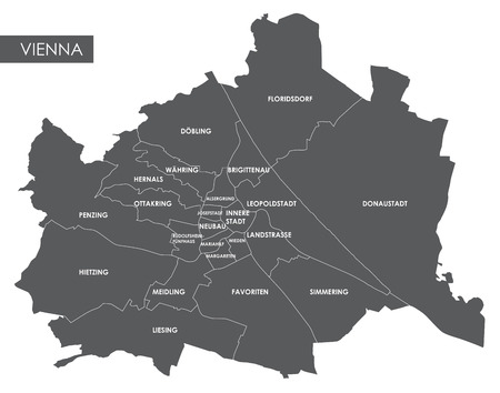 Vector map Vienna district