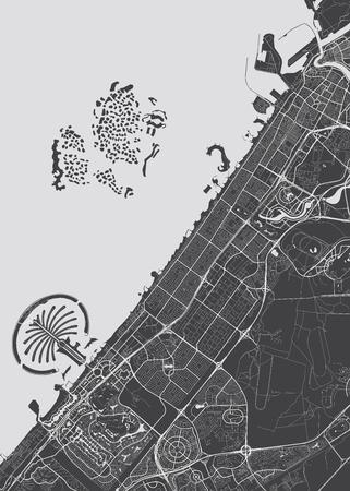 Vector detailed map Dubai 向量圖像