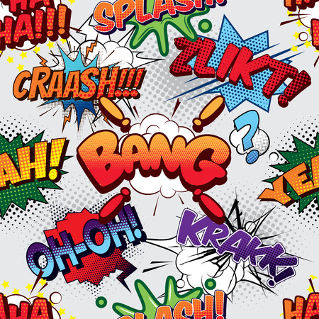 ha: Bang Seamless comics background