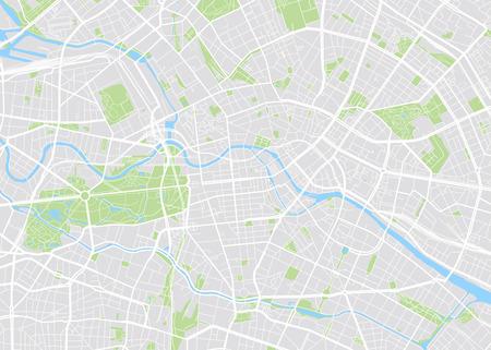 Berlin coloré carte vectorielle Banque d'images - 70619411