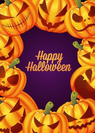 Happy Halloween poster background card. Vector illustration Ilustração