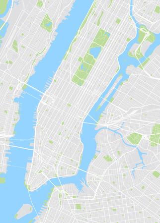 뉴욕 색깔의 벡터지도 일러스트