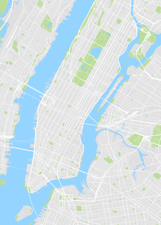 New York gekleurde vector kaart