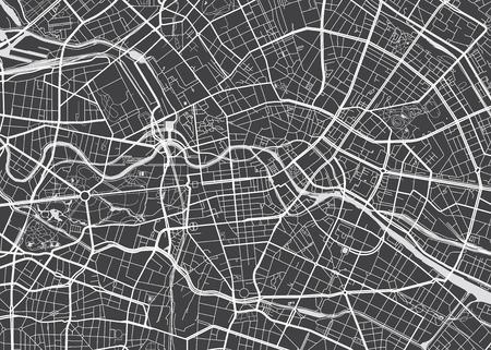 Vector detailed map Berlin