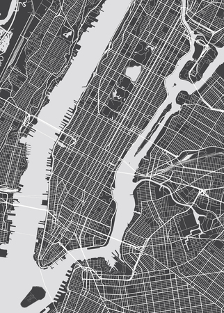 new york map: Vector detailed map New York