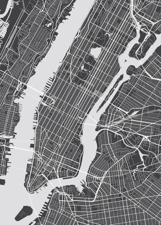 Wektorowa mapa szczegółowa Nowy Jork