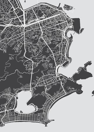 Vector detailed map Rio de Janeiro