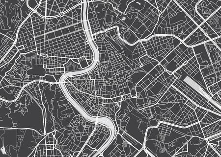 Wektor szczegółowej mapie Rzym