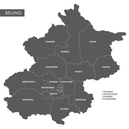 urban planning: Vector map Beijing district