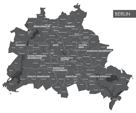 Vektorkarte Berliner Bezirk Standard-Bild - 70130462