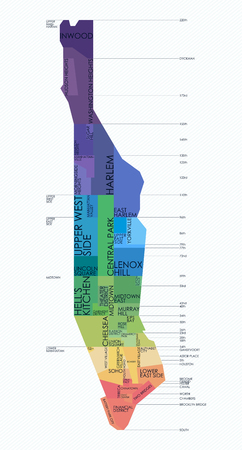 Vector map neighborhoods of Manhattan