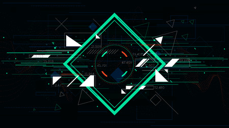 cyberpunk: Tech futuristic abstract backgrounds, colorful square.