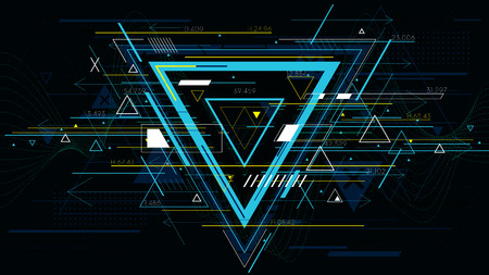 Tech futuristic abstract backgrounds, colorful triangle.