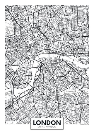 런던 포스터지도 벡터 포스터 일러스트