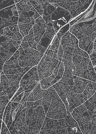 Brussels city plan, detailed vector map Ilustrace