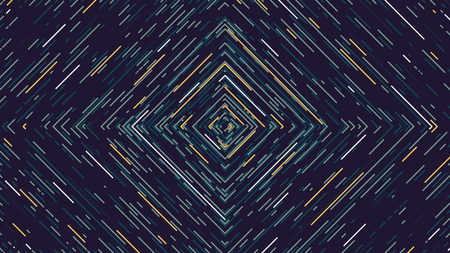 Color square cyber tunnel, Futuristic abstract background, vector illustration