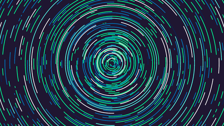 Colored rotating rings, Futuristic abstract background, vector illustration