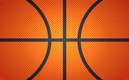 Horizontale baltextuur voor basketbal, sportachtergrond, vectorillustratie