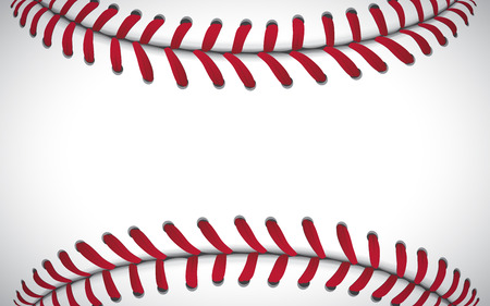 Texture of a baseball, sport background, vector illustration. Çizim