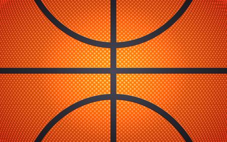 Verticale baltextuur voor basketbal, sportachtergrond, vectorillustratie.