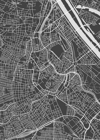 De stadsplan van Wenen, gedetailleerde vectorkaart Vectorillustratie. Stock Illustratie
