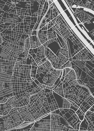 Vienna city plan, detailed vector map Vector illustration.