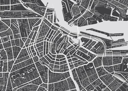 ベクトル地図アムステルダム  イラスト・ベクター素材