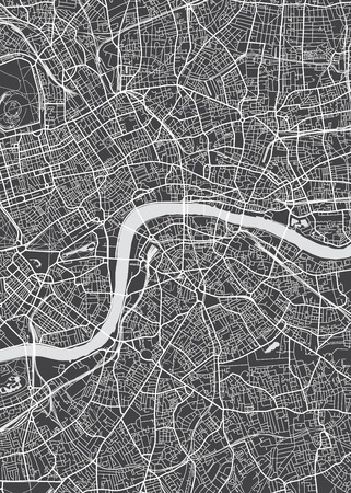 London city plan, detailed vector map Stock fotó - 84720359