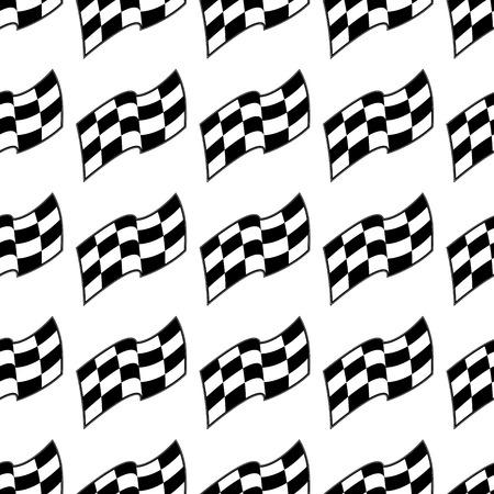 フラグ、黒と白のシームレスなパターン、ベクトルの背景をレース格子縞