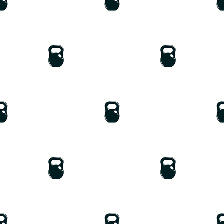 Seamless pattern minimalistic background with weight, sport vector illustration Illustration