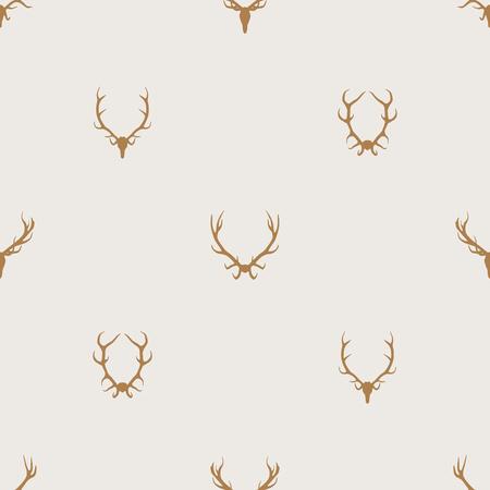 Naadloze patroon vector minimalistische achtergrond met herten geweren