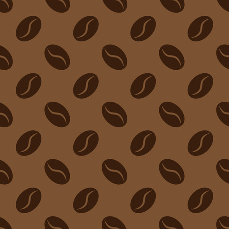 Seamless pattern with coffee beans, vector background for coffee house