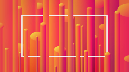 Abstract image background with geometric elements, vector cylinder pattern.