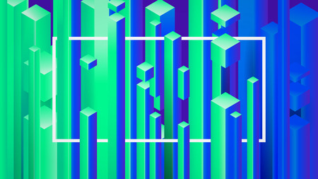 Abstract image background with geometric elements, vector rectangles pattern. Stock fotó - 95631631